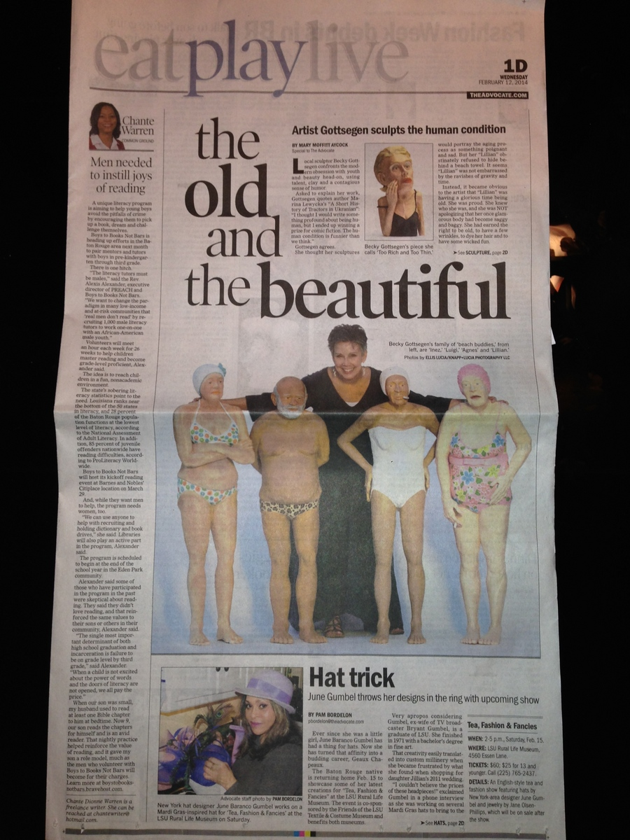 Article in the Baton Rouge paper about Becky and her work.