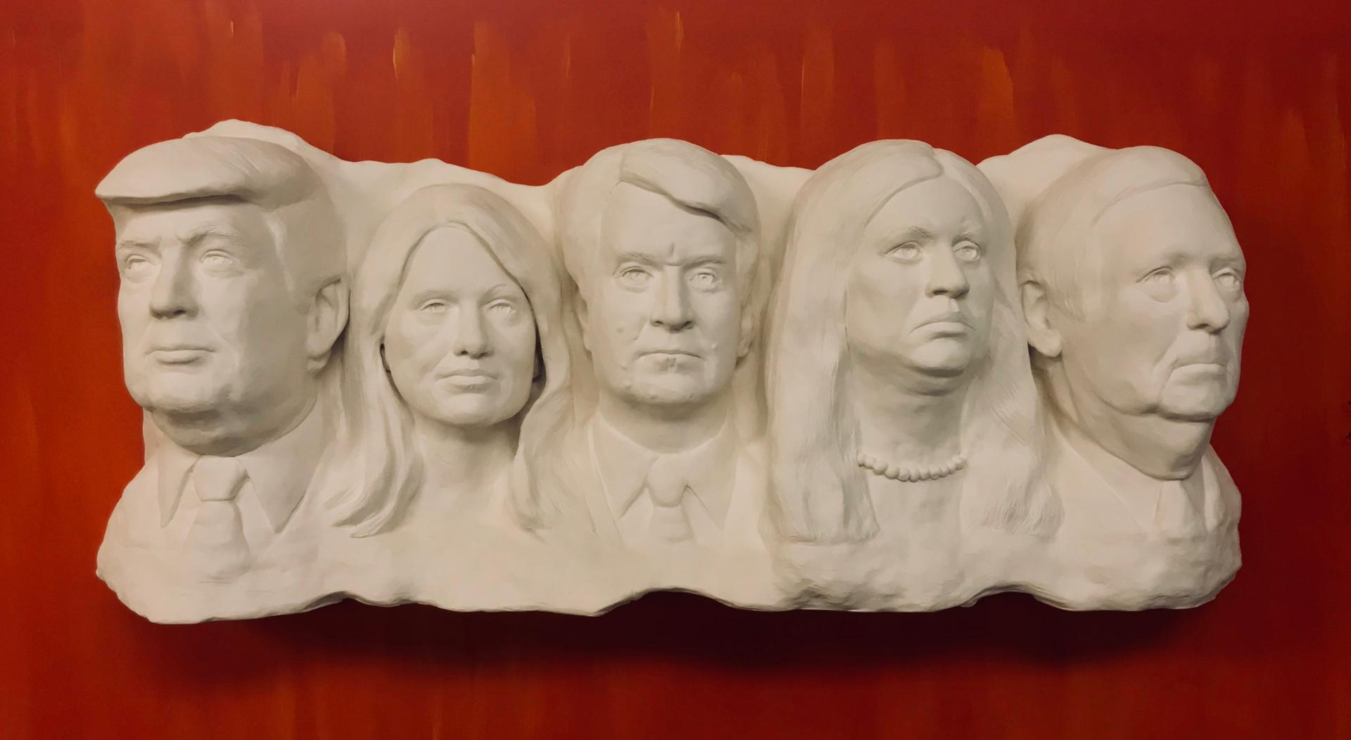 """The Liars' Club"" on exhibit at District Clay Gallery in Washington, D.C. Has a 5 minute loop of lies."